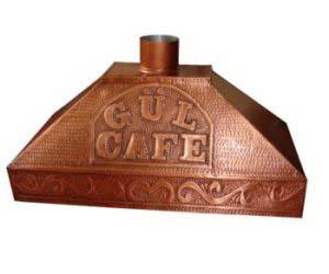 Bakır Davlumbaz - Gül Cafe Yazılı